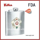 6oz stainless steel pewter hip flask