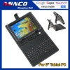 """QWERTY USB Keyboard Leather Cover Case Bracket Bag for 8"""" Tablet PC MID PDA with Stylus Pen"""