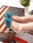 Comfortable ladies dress shoes flat heel suede vamp 2012