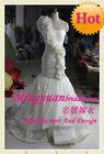 Single-shoulder Sheath Romantic Floor-length bridal wedding gown lvs047