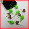 Lovely phone plug for iphone4/4s in chinese factory price