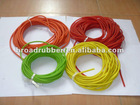 Colored solid latex tube