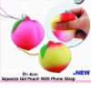 TPR Squishy peach mobile phone charm