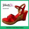 2012 hot sale wedge sandal