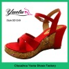 2012 hot sale wedge sandal