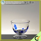 Crystal Ice Cream Glass Cup With Blue Point