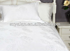 white jacquard bedding cotton fabric for hotels