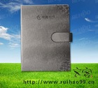 high quality grey leather pu notebook