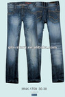 Men long jean pants with pocket deisgn in blue color for newest winter seaosn