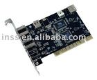 USB2.0 + FireWire PCI Card, 4+2 Port