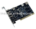 USB2.0 + FireWire PCI Card, 4+2 Port