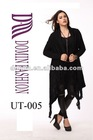 Hot selling polyacrylonitrile fiber with black longsleeve knitted sweater Lady's tops with long cardigan , Plus Size