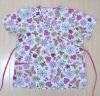 Women's printed scrub top