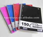 5 subject notebook 150 sheets closeout
