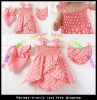 new design baby girl's dress baby baby clothing baby 3pcs/set dresses+baby cap+baby shorts