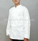 white professional chef cooking uniform