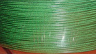 Steel wire cable coated in green color