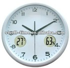 Promotional round radio control wall clock best for Chrismas gift