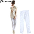 Europe and the feet tall waist trousers classical money to restore ancient ways bud tapered pencil pants pants trousers