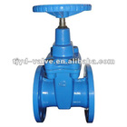 Resilient cast iron gate valve