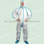 CE Exam Type 4/5/6 4000 Protective Coverall--Microporous Fabirc with Taped Seam