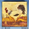 the chicken wooden printing canvas