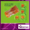 Universal Travel Adaptor Plug, Transparant Orange