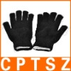 Fashion Cool LED 6-Mode Multicolored Flashing Knitting Gloves - Black (2 x CR2032 / Pair)