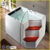 Massage wooden bathtub with stair HS-860F