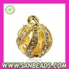 2012 hot selling charm jewelry Gold Plated Alloy Pendants pendant With White Stones
