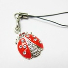 Promotion Gift Charm Cell Phone Strap Rhinestone