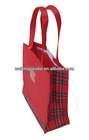 Factory red 420D nylon shopping bag handle children lunch bag pink tote bag feed tote bag