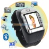 Cool Black 1.5 Inch Watch Cell Phone Support Camera and Free 2GB TF Card