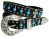 New cowgirl westerm cross belt with turquoise stone