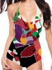 sublimated one piece swimwear