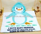 free size baby bathrobe Baby Bath Towel small penguin shape