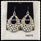 alloy diamond fashion earrings F43773