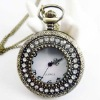 Free ship!!! 30pcs/lot big Brass Necklace Classic Pocket Watch necklace No.36