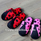 lady bird plush slippers for wholesale