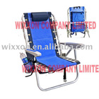 Ultimate backpack beach heavy duty chair with lace-up suspension and foldable drink holders