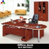 L shape melamine office desk