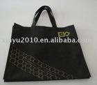Personalized design black non-woven bag