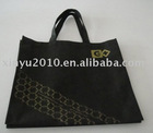 Personalized design black non-woven bag