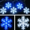 13w blue white led clear snow falling led christmas
