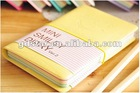 promotional colored leather sheath mini notebook