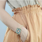 gold plated jewelry square bracelet very fashion