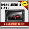 Dvd car player for Passat/Peugeot 307 AL-7109