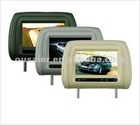 7'' TFT-LCD car headrest monitor /IR/Game/Zipper (Optional)