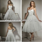 New Arrival A-line Strapless Lace Little Whit Dress Wedding Gowns