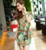Comfortable personality portrait color best selling silk dress